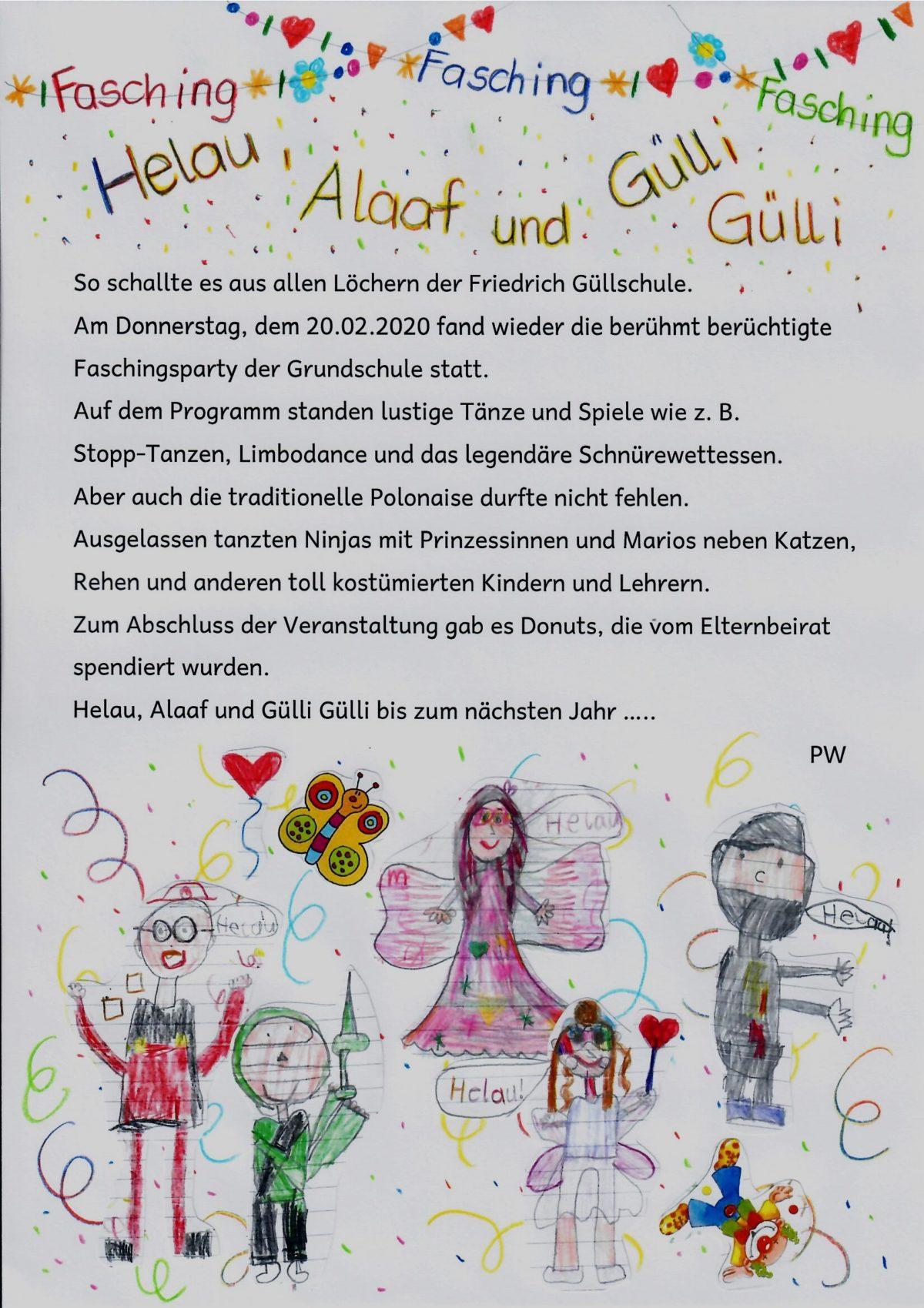 Fasching an der Friedrich-Güll-Schule