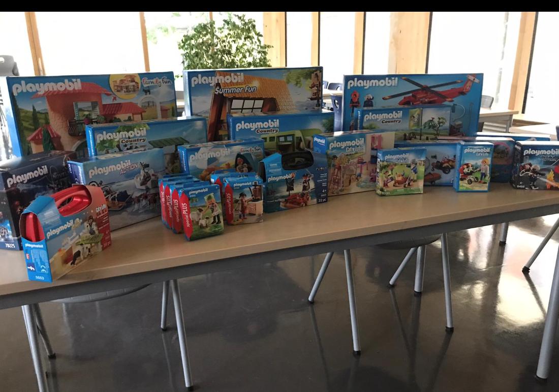 Spende von der Playmobil-Stiftung